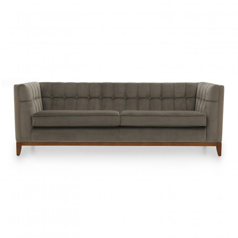 4 seater Italian sofa - contemporary Italian sofa with buttoned back and 2 comfortable seat cushions