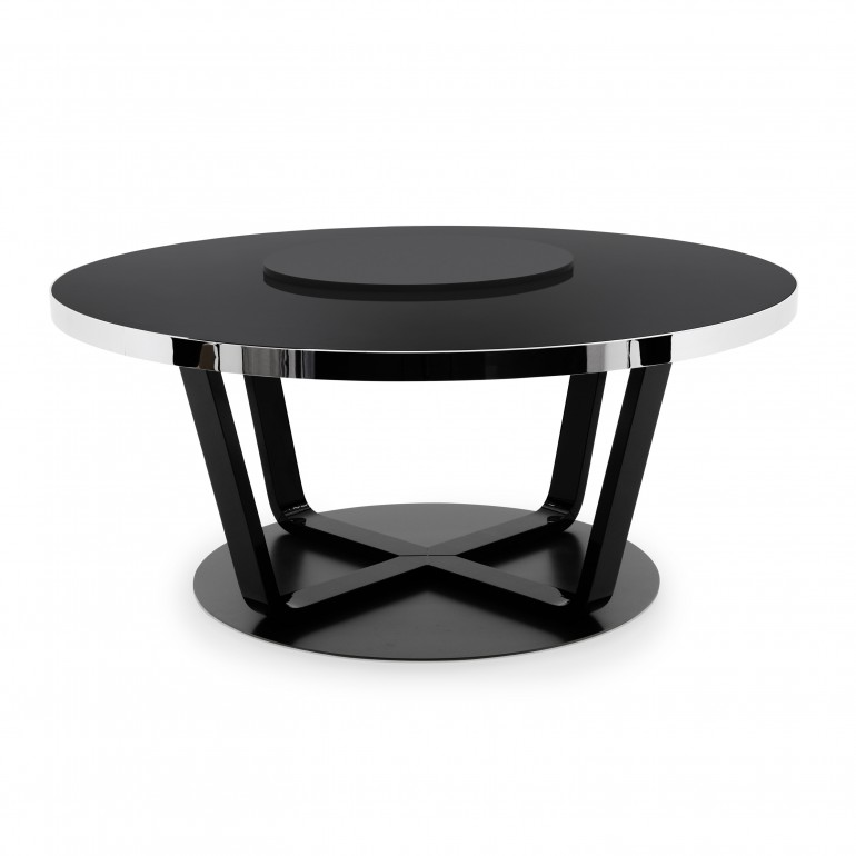 contemporary style  table with metal base