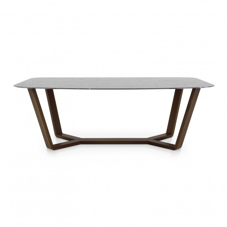 modern style wood table ermione e 8279