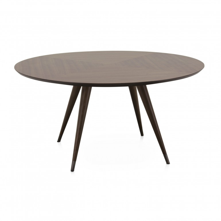 modern style wood table moon 4918