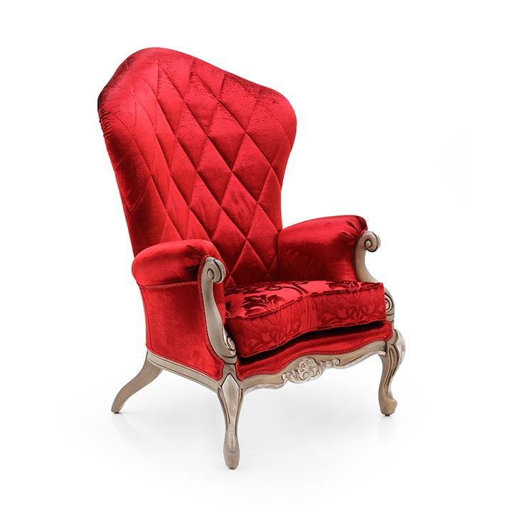 baroque style wooden armchair