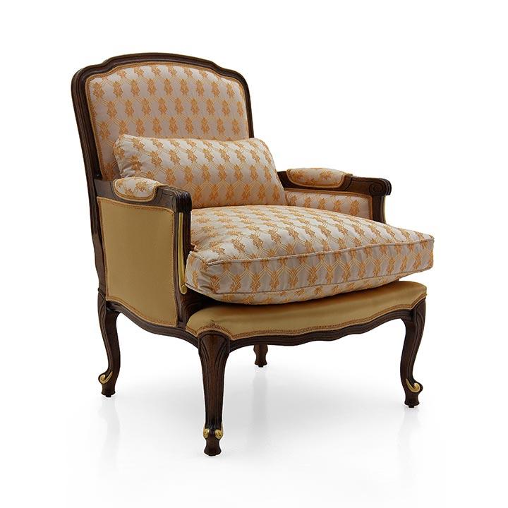 poltrona legno classico wood classic armchair carmen 5127