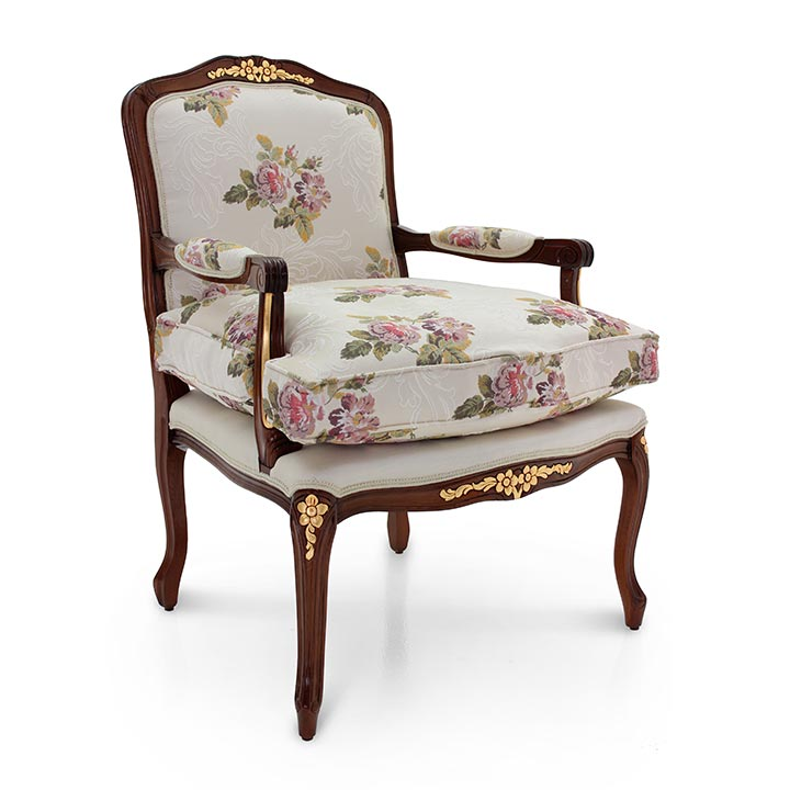 Louis XV Style Armchair Made of Wood Duchessa | Sevensedie