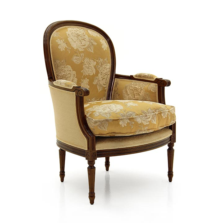 poltrona legno classico wood classic armchair iside 6563