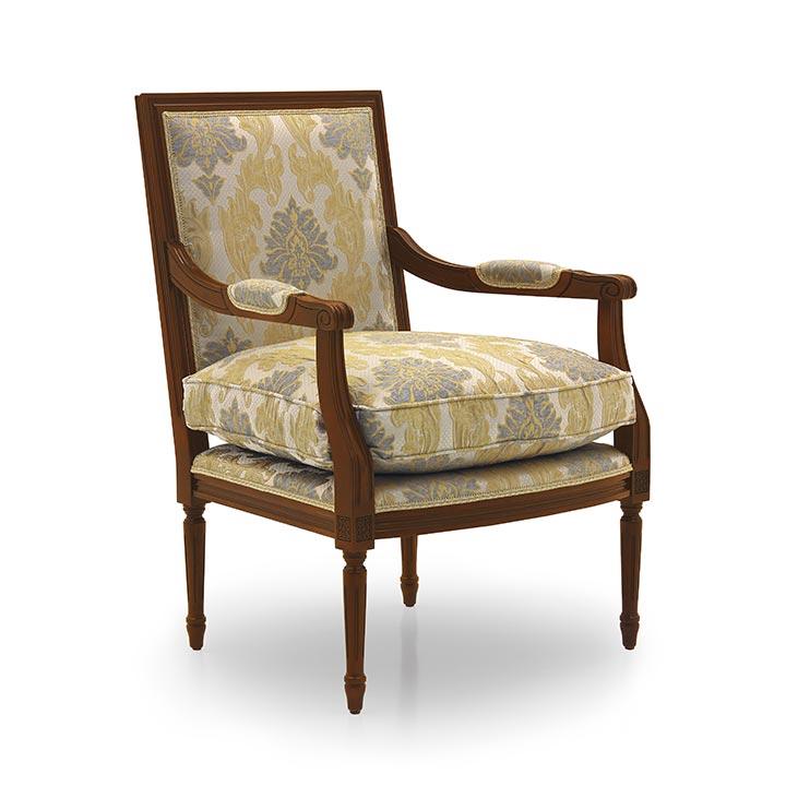 poltrona legno classico wood classic armchair luigi 7432