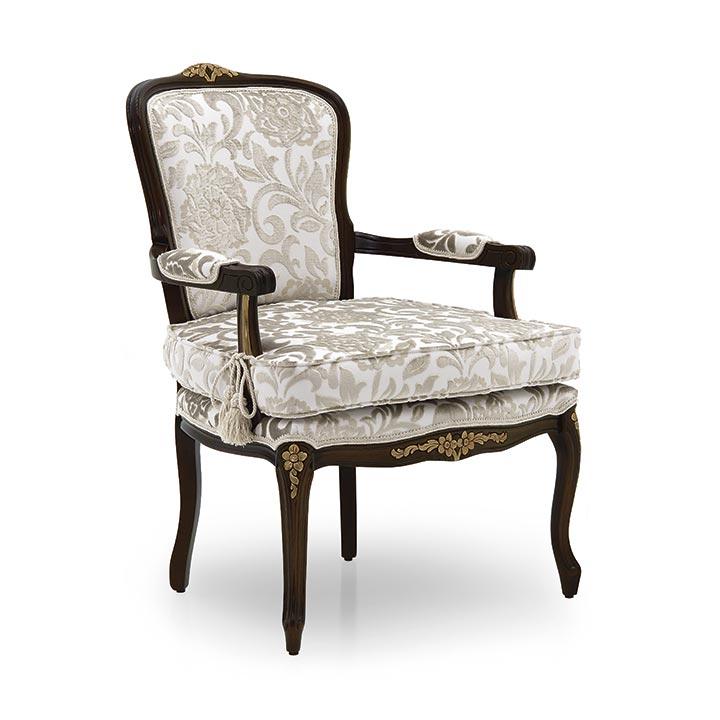 poltrona legno classico wood classic armchair luisa 2818