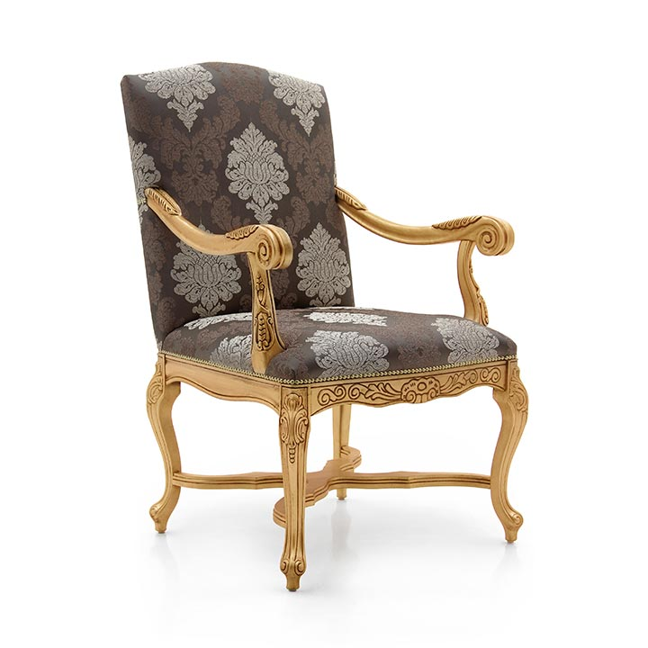 empire style wooden armchair