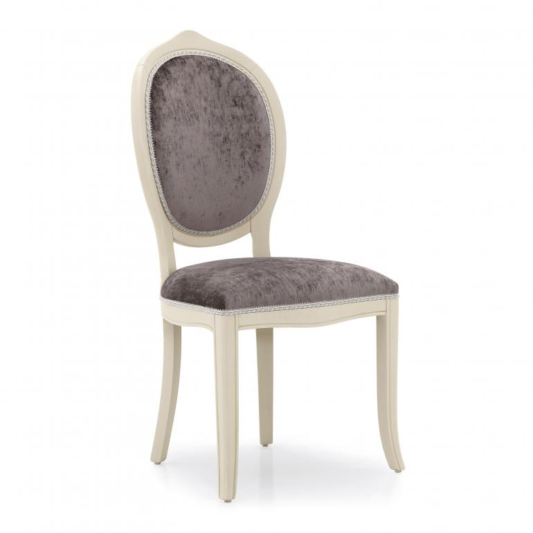 Contemporary hotel & restaurant chair Debora by Sevensedie - beech wood frame -  comfortable padded back rest - structure polished in antique white