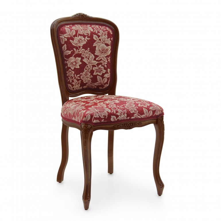 sedia stile classico legno imbottita