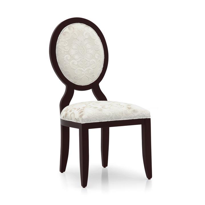 sedia art-deco legno imbottita