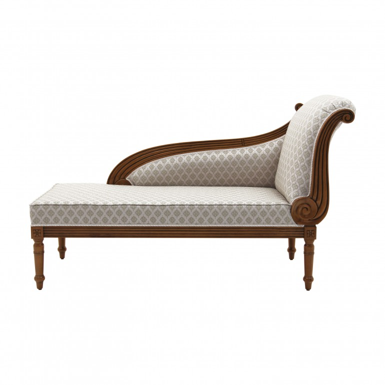 classic style wooden chaise-longue