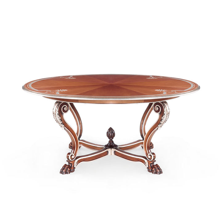 venice style wood table leone 6108