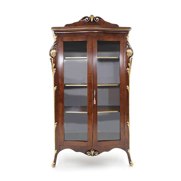 vetrina legno veneziano wood venetian glass cupboard aura 2138