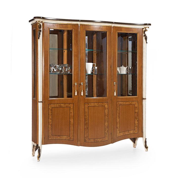 vetrina legno veneziano wood venetian glass cupboard talia 3486