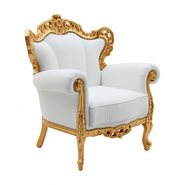 white italian leather armchair palermo 5764