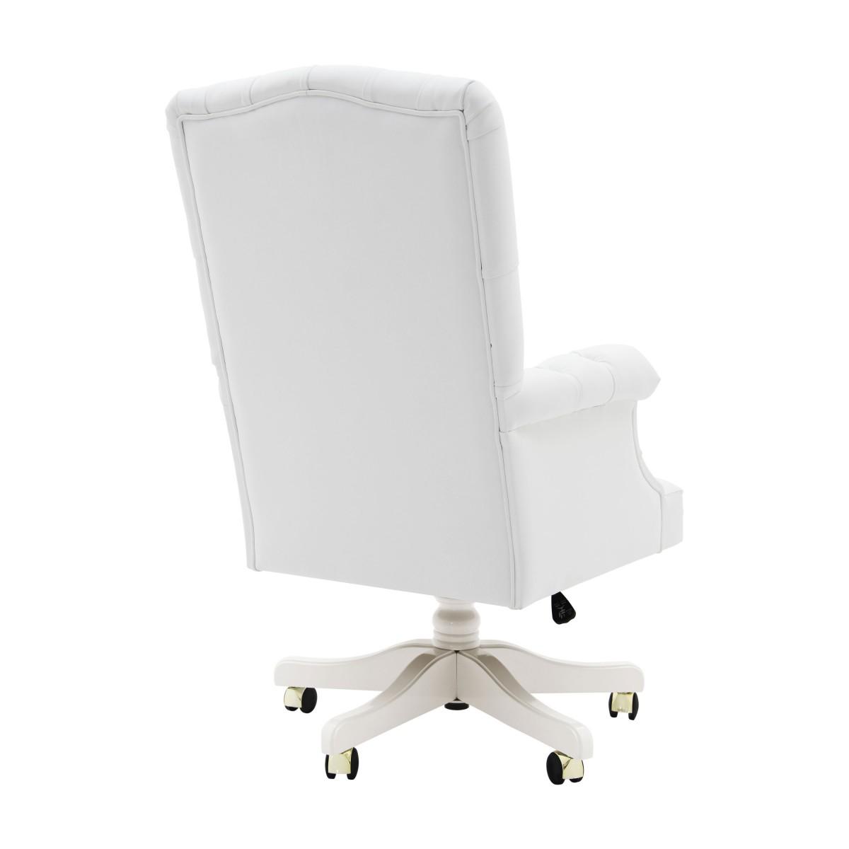 white italian leather armchair president 2 574