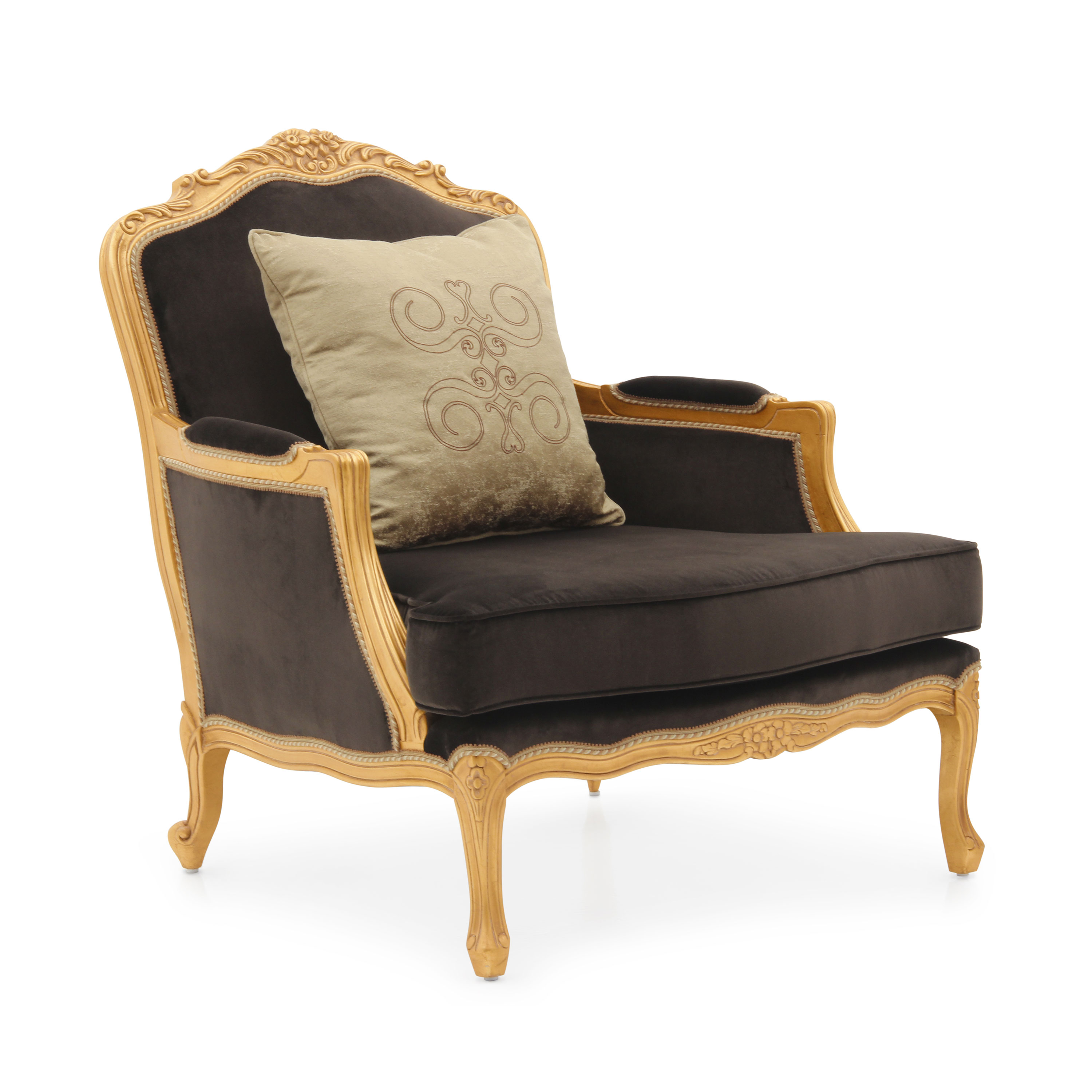 Classic Style Armchair Made of Wood Spagna | Sevensedie