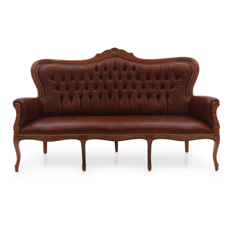 Divano E Poltrone Luigi Filippo divano in legno stile luigi filippo foglia - sevensedie