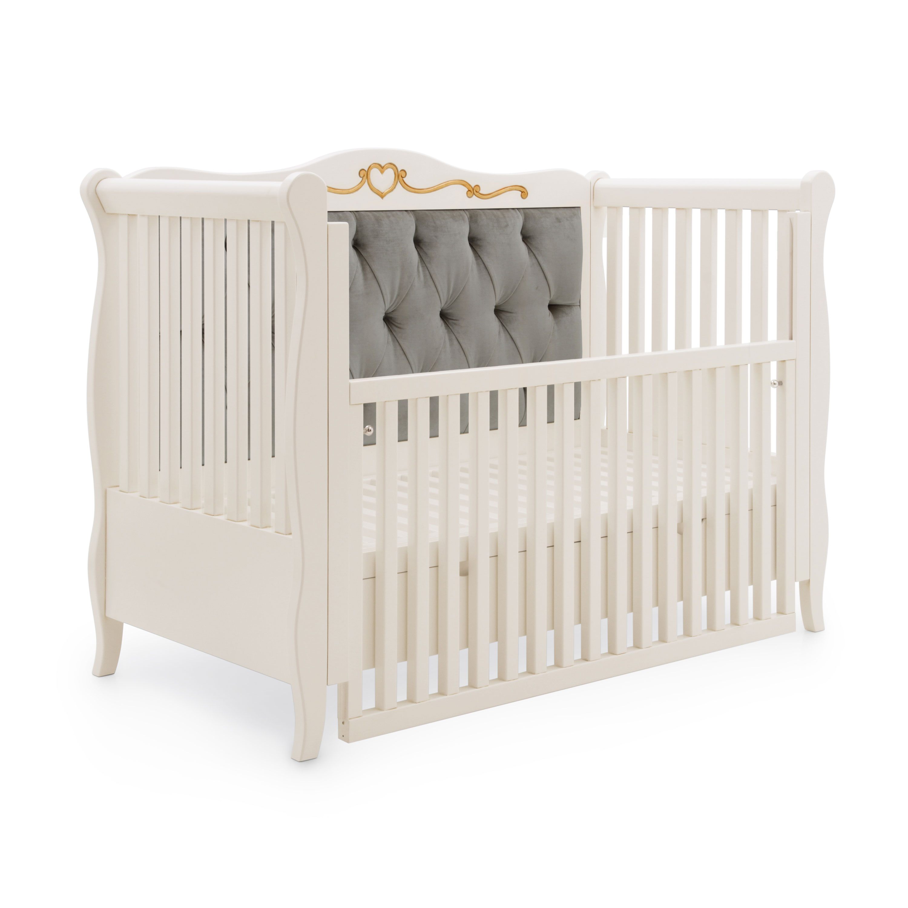 Classic Style Baby Bed Made Of Wood Custom034 Sevensedie