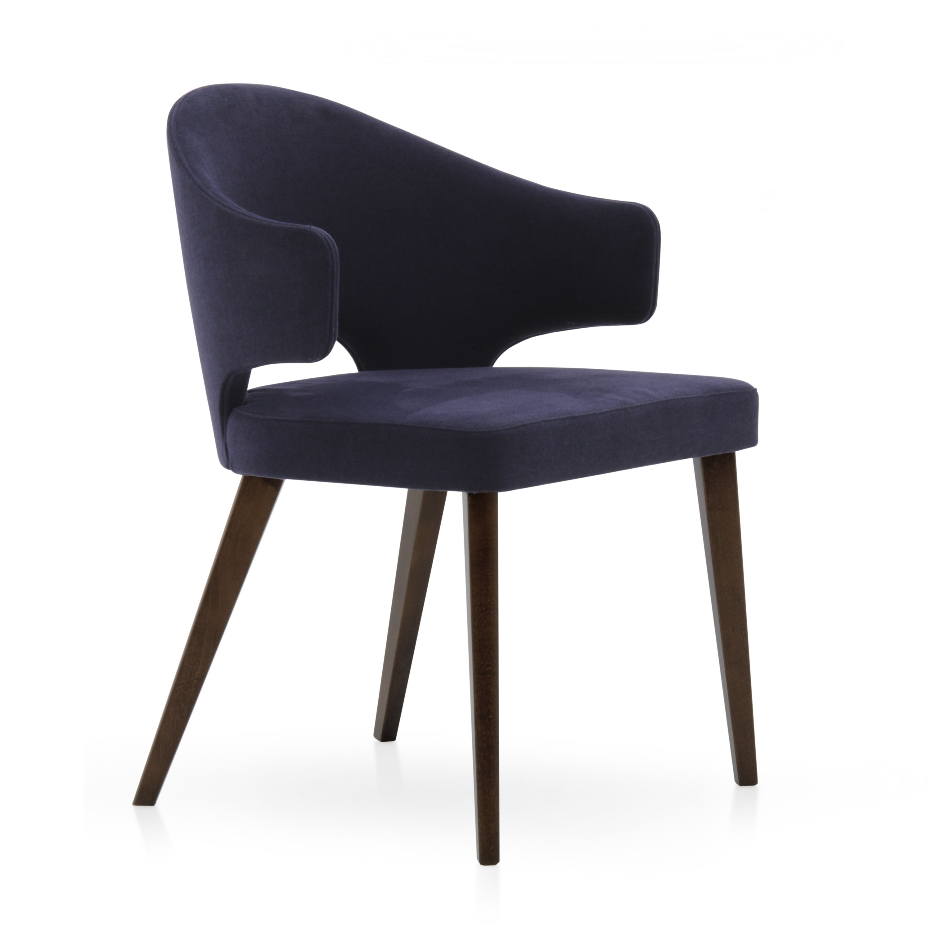 Modern style small armchair made of wood eva 951 sevensedie for Small contemporary armchairs