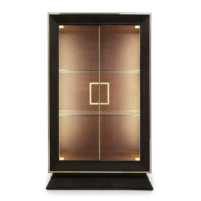 Vetrina in legno stile moderno cubica sevensedie for Vetrina stile moderno