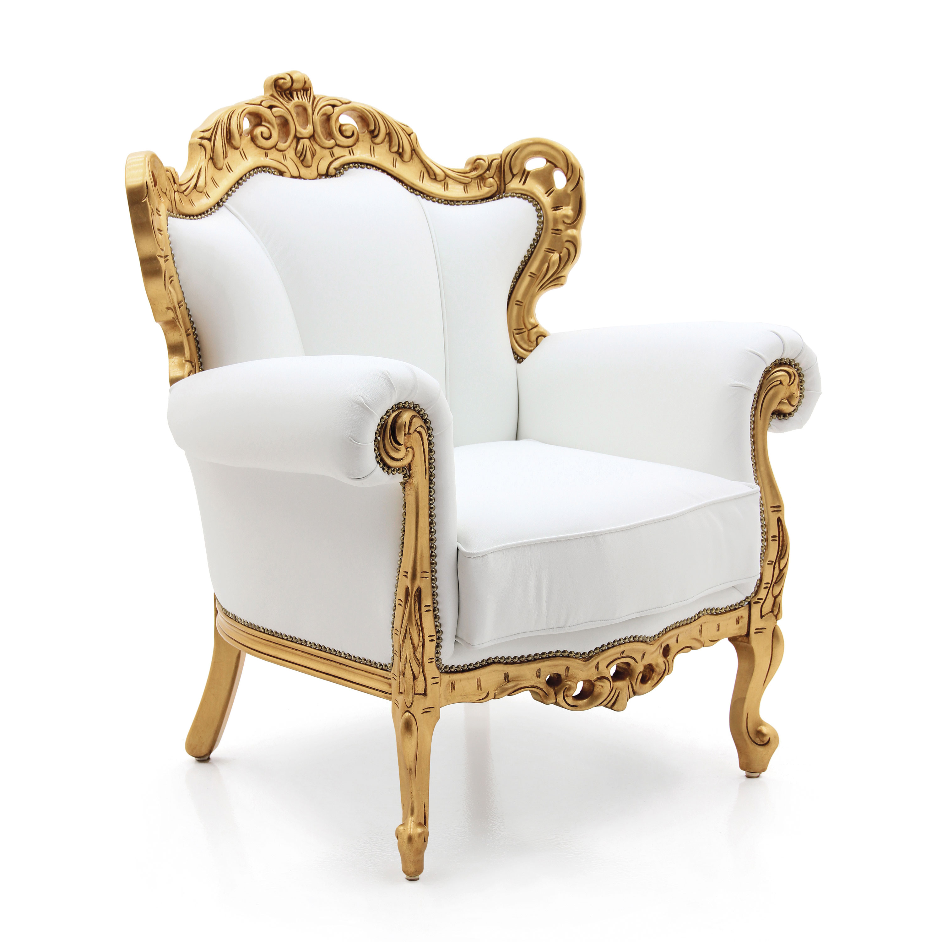 Ordinaire Baroque Style Wooden Armchair
