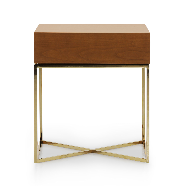 Modern style metal bedside table klepsidra 944 sevensedie - Modern bedside table ...
