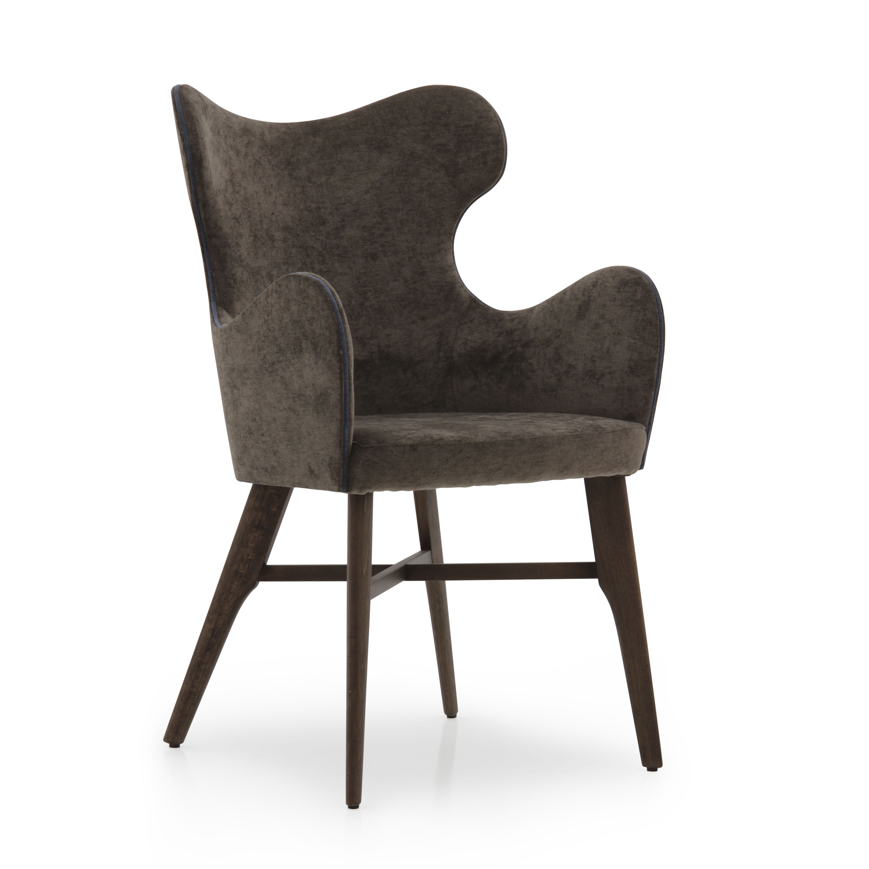 Modern style small armchair made of wood auribus 965 for Small contemporary armchairs