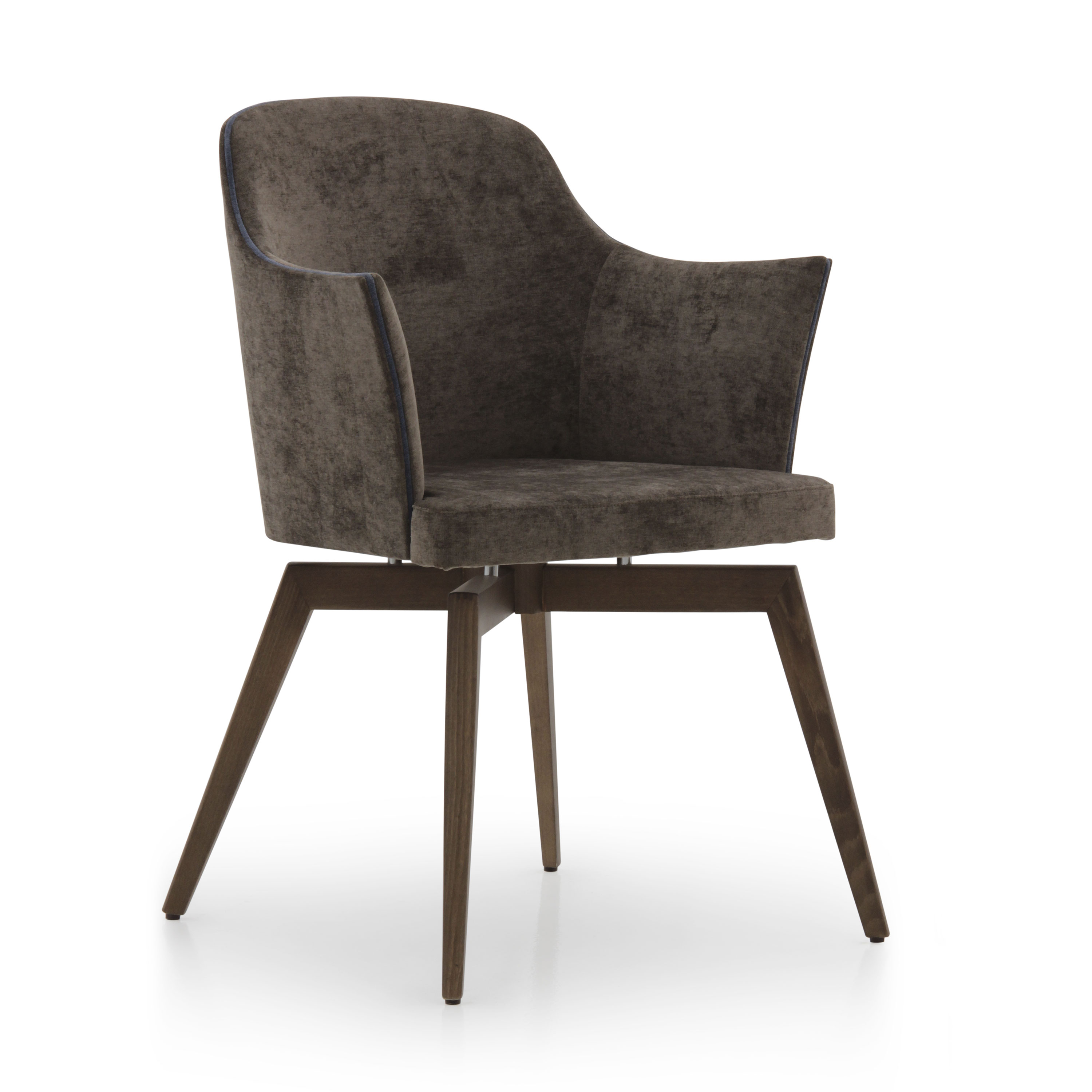 Modern style small armchair made of wood marta 954 for Small contemporary armchairs