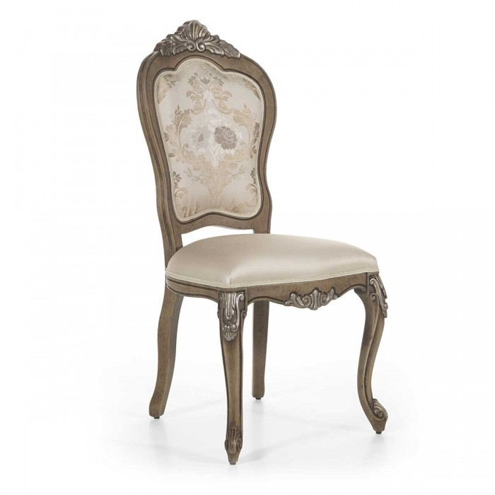 White classic chair CRESTA by Sevensedie in baroque style