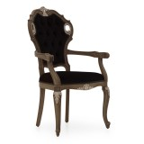 classic style small wooden armchair