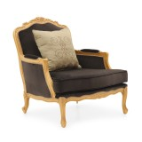 classic style wooden armchair