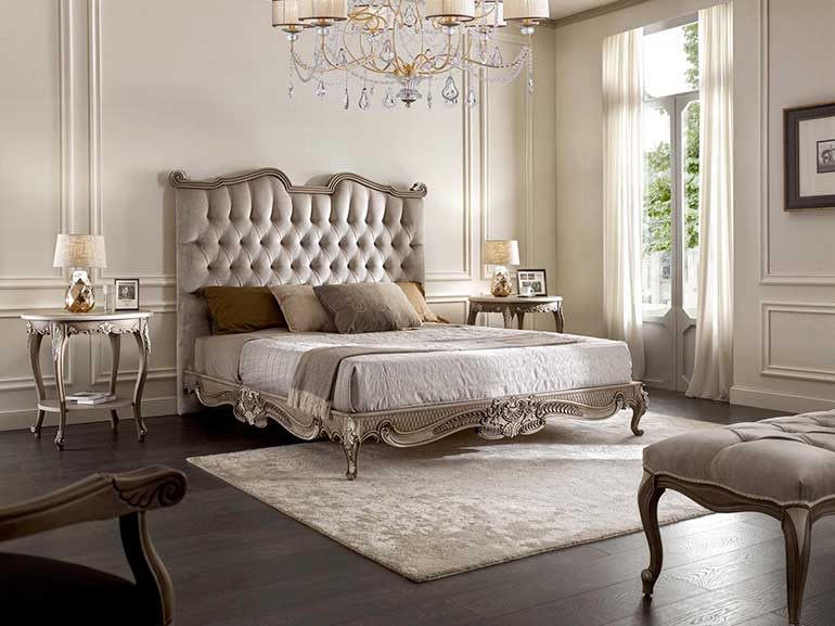 Italian classic bed Kalo  by Sevensedie.