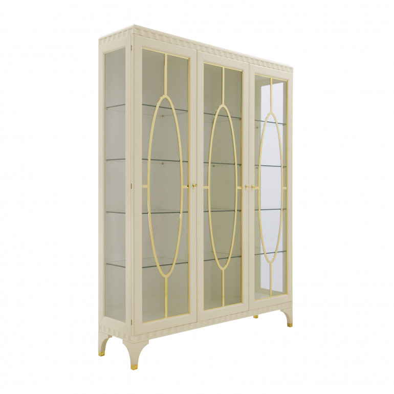 Italian cabinet Ellipse by Sevensedie. Cream color.