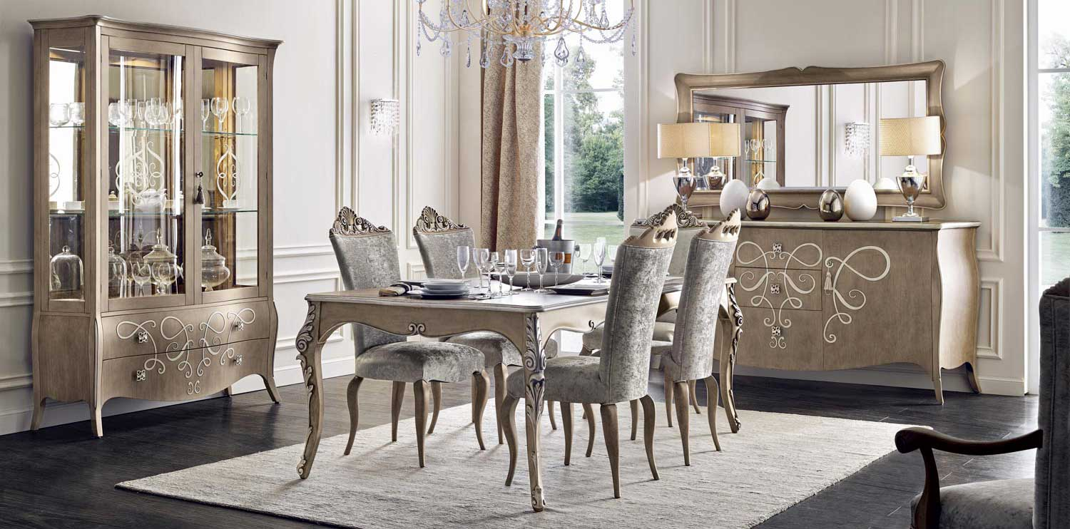 Italian classic furniture  by Sevensedie, Butterfly dining room set