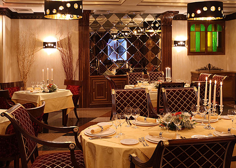 Classic armchairs Magistra and Taura in the Premier Restaurant in Moscow, Russia